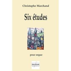 Six études pour orgue 6 Christophe Marchand Partition laflutedepan
