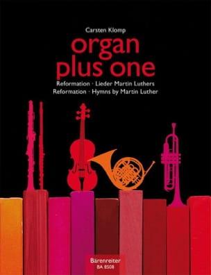 Organ plus One. Réforme Carsten Klomp Partition Orgue - laflutedepan