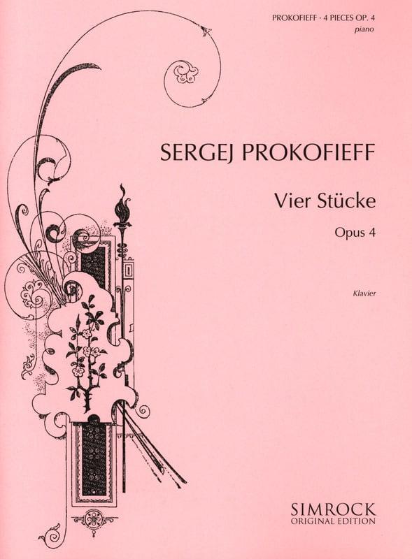 4 Stücke Opus 4 - PROKOFIEV - Partition - Piano - laflutedepan.com