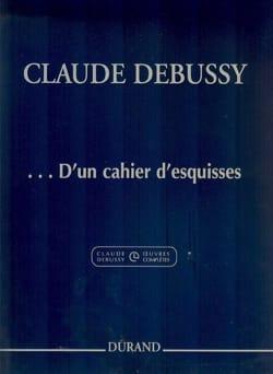 ... D'un cahier d'esquisses DEBUSSY Partition Piano - laflutedepan