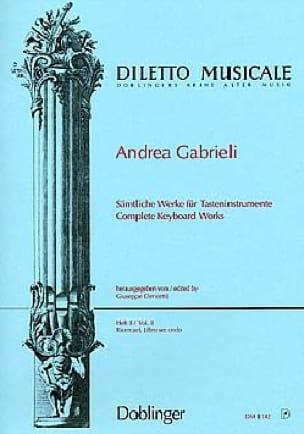 Sämtliche Orgelwerke Volume 2 - Andrea Gabrieli - laflutedepan.com