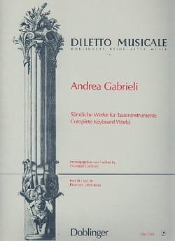 Sämtliche Orgelwerke Volume 3 Andrea Gabrieli Partition laflutedepan