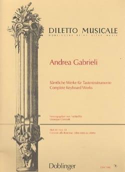 Sämtliche Orgelwerke Volume 6 Andrea Gabrieli Partition laflutedepan