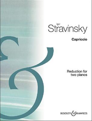 Capriccio. 2 pianos STRAVINSKY Partition Piano - laflutedepan