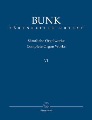 Sämtliche Orgelwerke. Volume 6 Avec CD Gerard Bunk laflutedepan