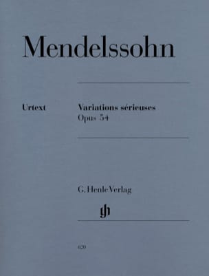 MENDELSSOHN - Serious Variations Opus 54 - Partition - di-arezzo.co.uk