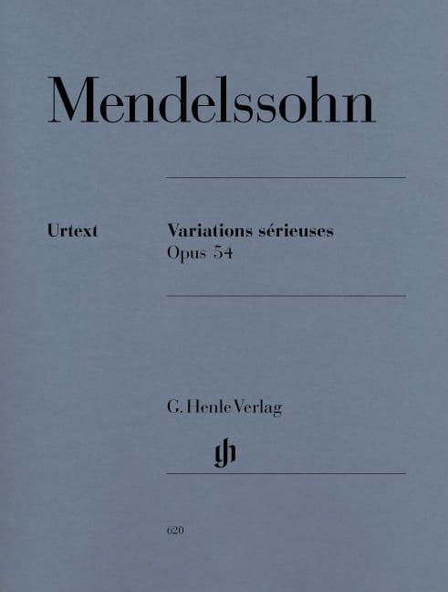 Variations Sérieuses Opus 54 - MENDELSSOHN - laflutedepan.com