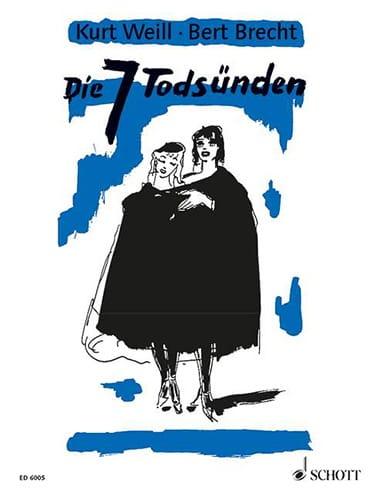 Die 7 Tödsunden - WEILL - Partition - Opéras - laflutedepan.com