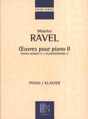 Oeuvres Pour Piano Volume 2 RAVEL Partition Piano - laflutedepan