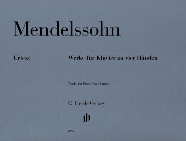 Oeuvres Pour Piano A Quatre Mains - MENDELSSOHN - laflutedepan.com