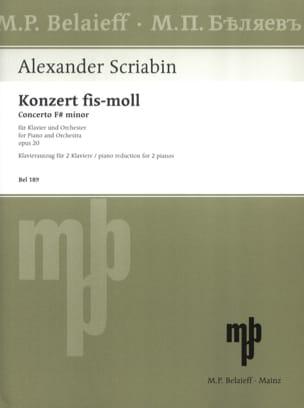Concerto pour piano en fa dièse mineur Opus 20. SCRIABINE laflutedepan