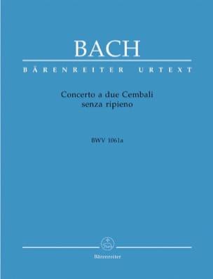Concerto A 2 Cembali BWV 1061a BACH Partition Piano - laflutedepan