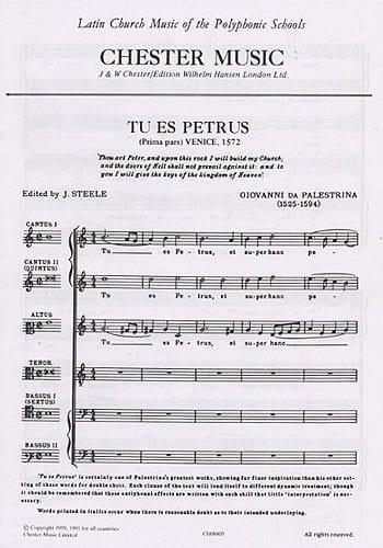 Tu Es Petrus - PALESTRINA - Partition - Chœur - laflutedepan.com