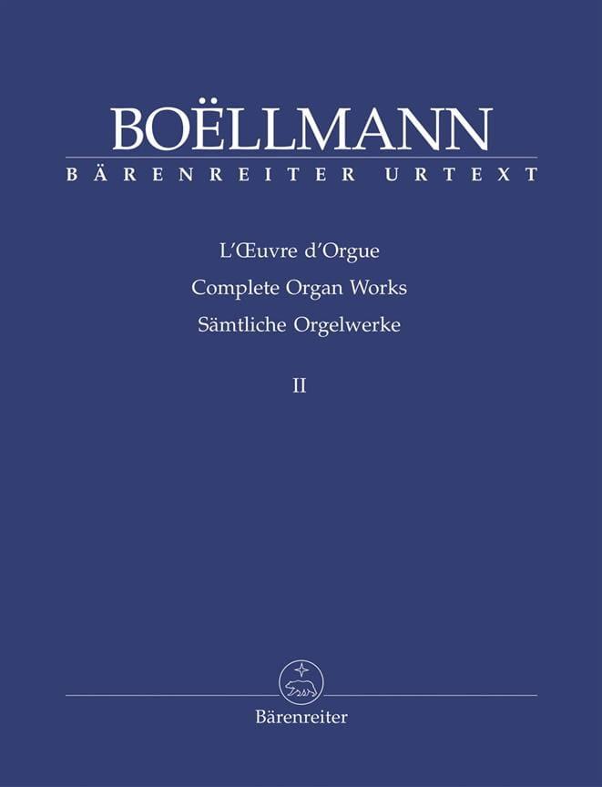 Oeuvre d'Orgue Volume 2 - Léon Boëllmann - laflutedepan.com