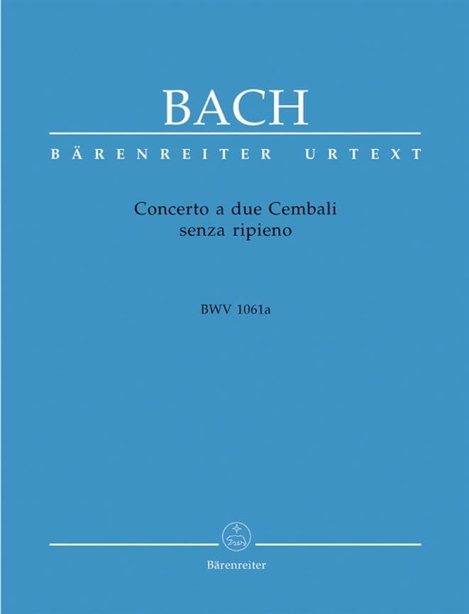 Concerto A 2 Cembali BWV 1061a - BACH - Partition - laflutedepan.com
