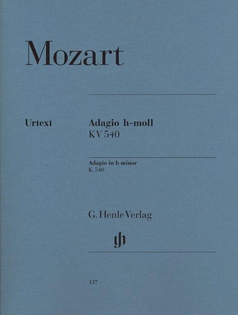 Adagio en si mineur KV 540 - MOZART - Partition - laflutedepan.com