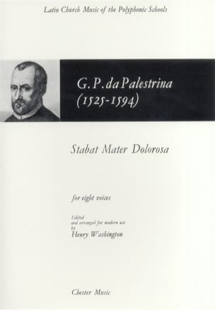 Stabat Mater Dolorosa PALESTRINA Partition Chœur - laflutedepan
