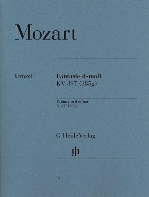 Fantaisie en ré mineur - MOZART - Partition - Piano - laflutedepan.com