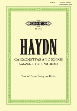 Canzonettas And Songs HAYDN Partition Mélodies - laflutedepan