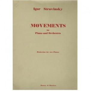 Igor Stravinski - Movements. 2 Pianos - Partition - di-arezzo.com
