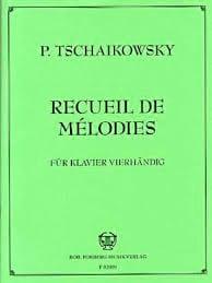 Mélodies Série 2. 4 Mains TCHAIKOVSKY Partition Piano - laflutedepan