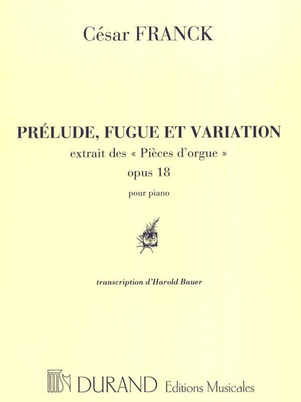 Prélude, Fugue et Variation Opus 18 - FRANCK - laflutedepan.com