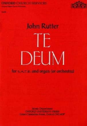 Te Deum - RUTTER - Partition - Chœur - laflutedepan.com