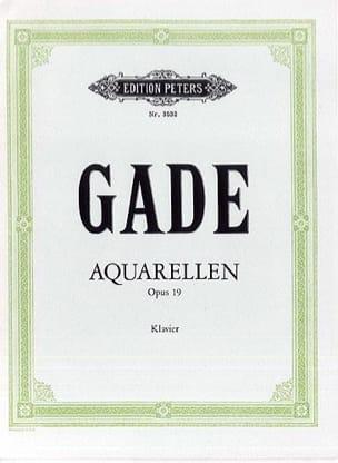 Aquarellen Op. 19 Gade Partition Piano - laflutedepan