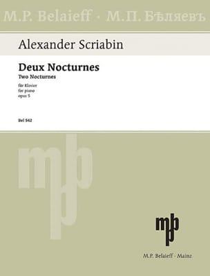2 Nocturnes Opus 5 SCRIABINE Partition Piano - laflutedepan