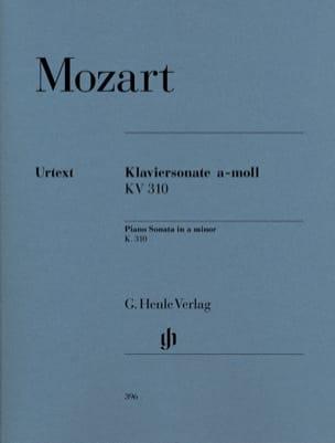 Sonate pour piano en la mineur K. 310 300d MOZART laflutedepan