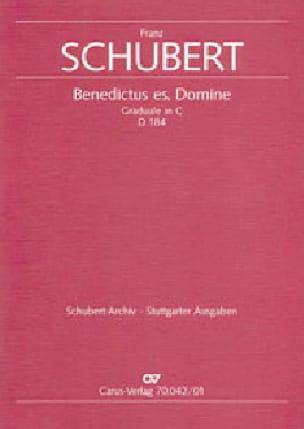 Benedictus es, Domine. D184 - SCHUBERT - Partition - laflutedepan.com