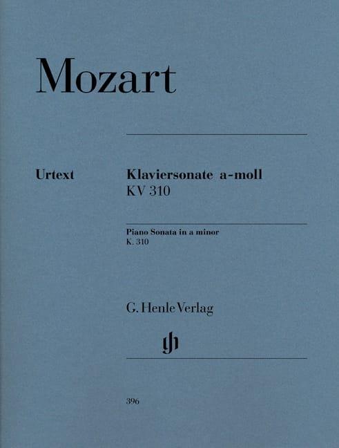 Sonate pour piano en la mineur K. 310 300d - MOZART - laflutedepan.com