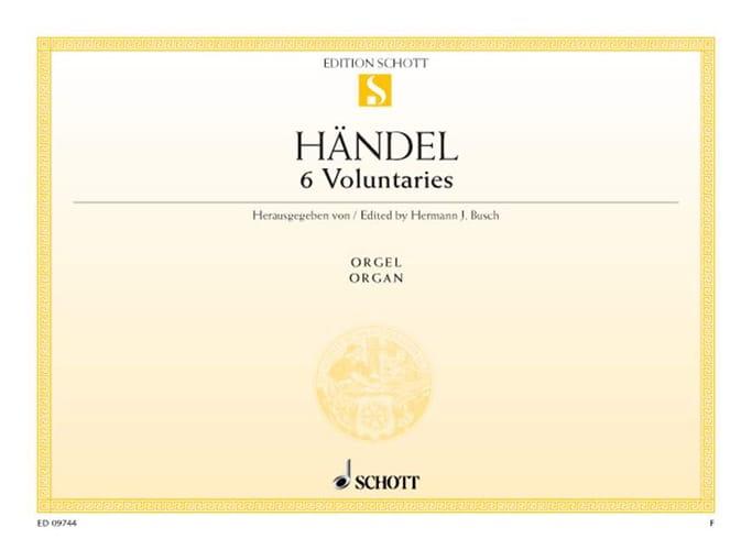 6 Voluntaries - HAENDEL - Partition - Orgue - laflutedepan.com