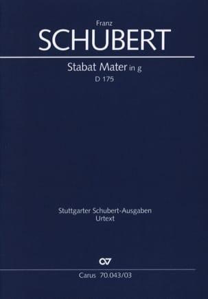 Stabat Mater En Sol mineur D 175 SCHUBERT Partition laflutedepan