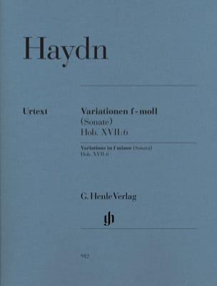 Variations en fa mineur Hob. XVII:6 HAYDN Partition laflutedepan