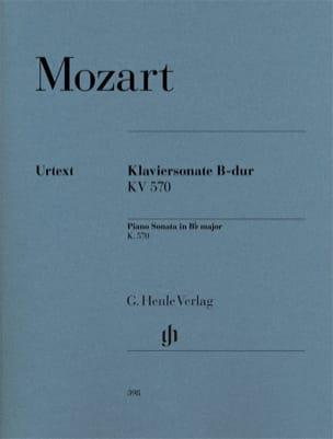 Sonate pour piano en Si bémol majeur K. 570 MOZART laflutedepan