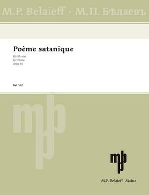 Poème Satanique Op. 36 - SCRIABINE - Partition - laflutedepan.com