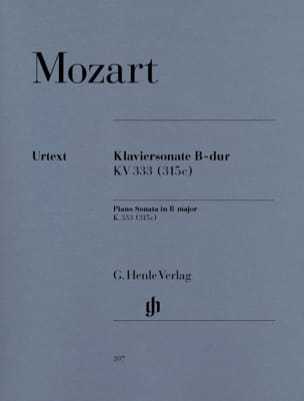 Sonate Pour Piano En Si Bémol Majeur K. 333 315c MOZART laflutedepan