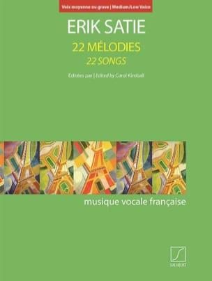 22 Mélodies. Voix Moyenne-Grave SATIE Partition laflutedepan