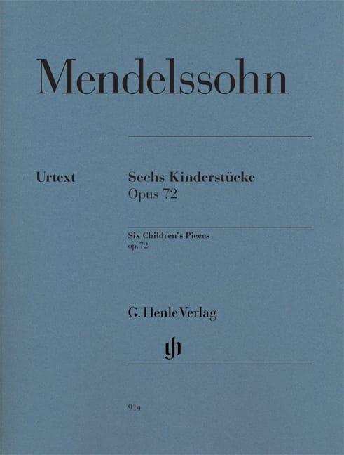6 Kinderstücke Opus 72 - MENDELSSOHN - Partition - laflutedepan.com