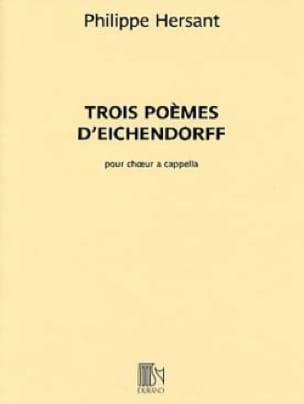 3 poèmes d' Eichendorff - Philippe Hersant - laflutedepan.com