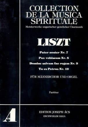 4 Stücke - LISZT - Partition - Chœur - laflutedepan.com