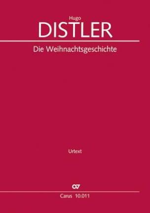 Die Weihnachtsgeschichte op. 10 Hugo Distler Partition laflutedepan