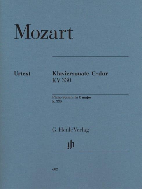 Sonate pour piano en Do majeur K. 330 300h - MOZART - laflutedepan.com