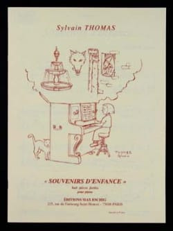 Souvenirs D'enfance Sylvain Thomas Partition Piano - laflutedepan