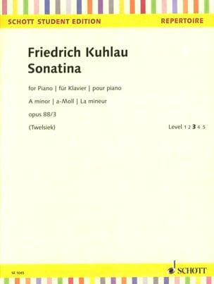 Sonatine en La mineur Opus 88-3 Friedrich Kuhlau laflutedepan