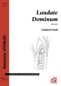 Laudate Dominum RV 614 VIVALDI Partition Chœur - laflutedepan