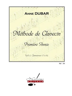 Méthode de Clavecin. Volume 2 Anne Dubar Partition laflutedepan