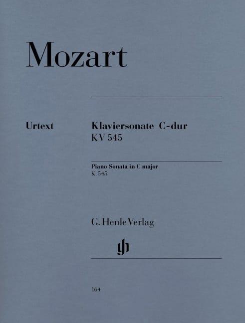 Sonate Pour Piano En Ut Majeur K. 545 - MOZART - laflutedepan.com