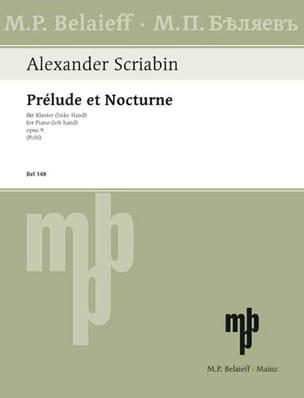 Alexander Scriabine - Prélude et Nocturne Opus 9 - Partition - di-arezzo.fr